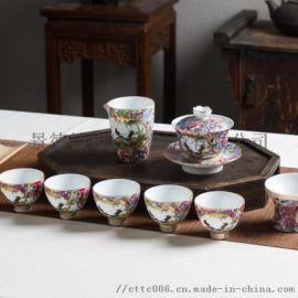 时尚商务礼品陶瓷茶具 旅行茶具套装便携订制厂家