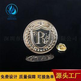 金属徽章定做胸章定制公司logo烤漆徽章制作