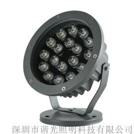 谐光LED投射灯投光灯户外防水单色RGB低压