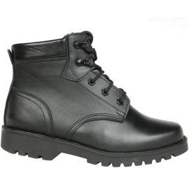 男士牛皮防寒靴保暖靴耐磨鞋底羊毛内里