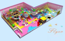 廠家直銷新型糖果主題淘氣堡室內兒童樂園廣州飛翔家