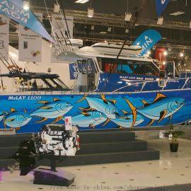 11.2米国产钓鱼船铝合金专业钓鱼艇休闲海钓船