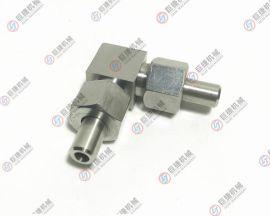 油压直角弯接头 对焊高压接头 不锈钢直角管接头