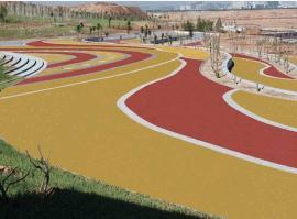 彩色透水混凝土地坪生态地坪露骨料地坪防滑地坪海绵城市