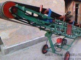 饲料袋子移动式升降  装车皮带输送机 手拉升降饲料输送机