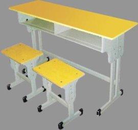 厂家直销 定制 双人升降校用课桌椅 美式书桌 培训桌 学生桌