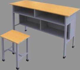 双人双斗学生课桌凳 校用多层板课桌椅 学生学习桌