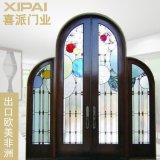 广东欧式大门 仿古双扇实木门 复合烤漆门出口 订做