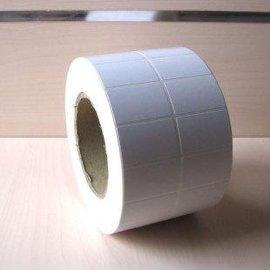 铜版纸不干胶打印纸卷装40 60*2000张/卷双排条码标签纸吊牌贴纸竖版
