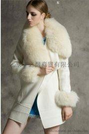 呢子大衣_羊毛呢子大衣批发_羊绒毛领呢子大衣