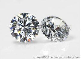 锆石样品,白色圆锆,高质量宝石,人造宝石