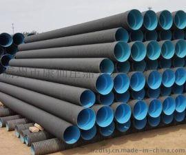 HDPE500mm大口径排污管,PE双壁波纹排污管,环刚度8KN