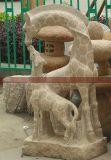 供应石雕长颈鹿 花岗岩动物 仿生动物石雕 厂家定做直销