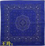 工厂 定制 高品质 户外 魔术 活性 印花 腰果花 全棉 头巾 方巾 大手帕