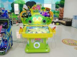 广州生产厂家供应**款农场保卫战双人儿童敲击益智游戏机
