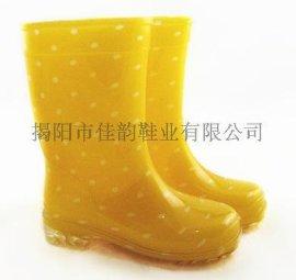 揭阳厂家供应斑点纹儿童雨鞋