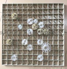 PP格栅板支撑喷淋塔PP填料球 500方形格栅可拼接