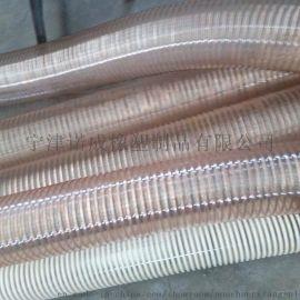PU钢丝镀铜伸缩管、透明钢丝软管、耐磨耐高温经久耐用
