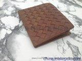 编织纹真皮钱包 卡包 厂家定做 上海订制