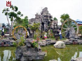 雅安雕塑厂家,假山喷泉泥塑设计加工定制