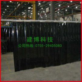 现货供应 防静电全黑窗帘 PVC黑色网格门帘