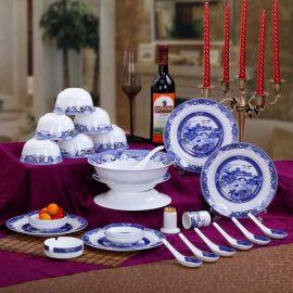 青花餐具礼品,青花瓷套装餐具