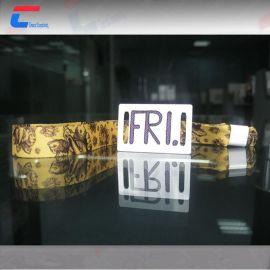 RFID编织手腕带 音乐节门票腕带 NTAG 213芯片封装  可定制
