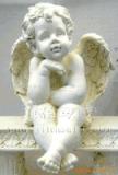 供應可愛的坐小天使雕塑