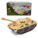 热卖新品电动万向坦克带音乐3D灯光玩具儿童益智军事模型玩具