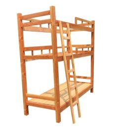 厂家直销 彩色拖管实木床 双层实木床 儿童高低子母床