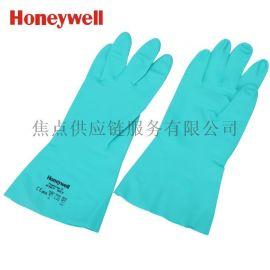 霍尼韦尔 进口丁腈橡胶防化工作手套绿色 9码 2094831