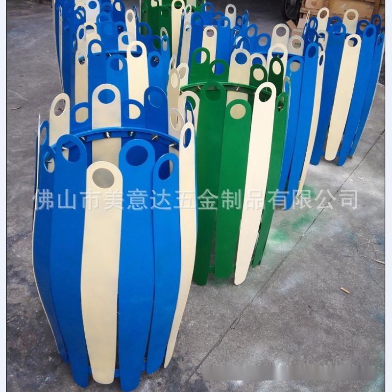 现代落地组合花盆 异形大花器 不锈钢花桶  来图加工 厂家定做
