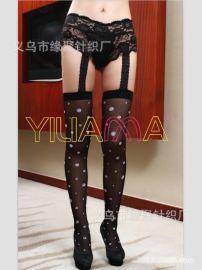 情趣絲襪批發 2013爆款性感蕾絲花邊短褲圓點長統褲情趣吊帶套裝