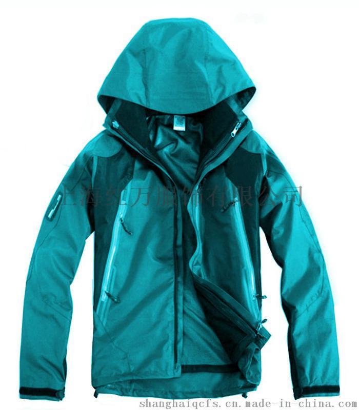 上海红万男女冲锋衣加工 两件套冲锋衣定制