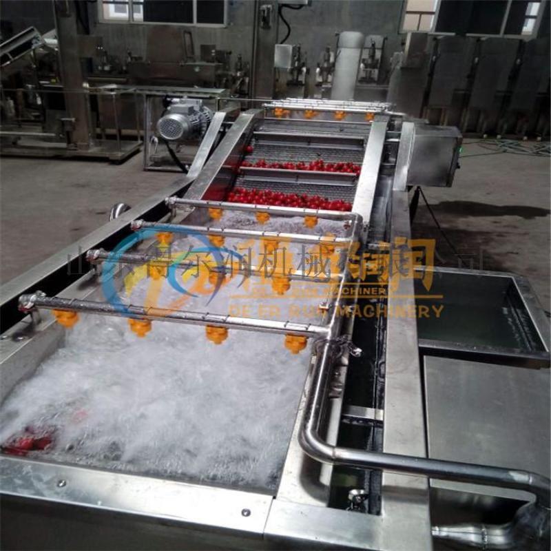山东 净菜加工生产线 油菜清洗机 连续净菜加工设备