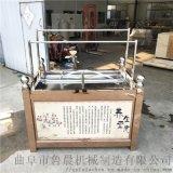 不锈钢油皮机六盒蒸汽式腐竹机