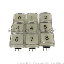 12x12mm视频处理器控台带灯按键开关