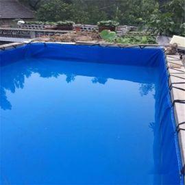 定做鱼塘防水布鱼池 防渗膜水池 可折叠水池生产厂家