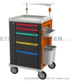 ABS材质豪华高配置抢救车 配复苏板医院手推车