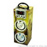 西班牙品牌现货木质蓝牙音箱插卡收音机卡拉OK音箱