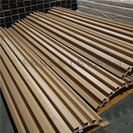 酒店大堂造型包柱铝板,木纹包柱铝单板