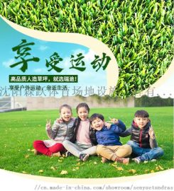 幼儿园庭院装饰休闲人造草坪 景观人造草