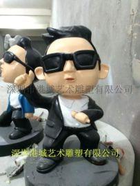 深圳玻璃钢厂家批发鸟叔卡通人物系列雕塑工艺品