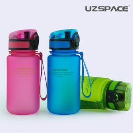 优之uzspace防漏水杯 学生磨砂随手杯子便携塑料水瓶带盖运动水壶