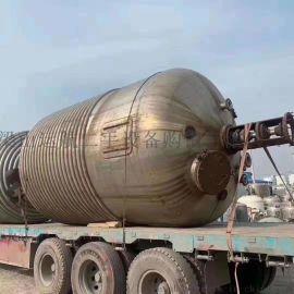 大型全不锈钢二手30立方外排管反应釜**