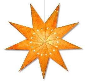 纸艺多角星吊灯罩