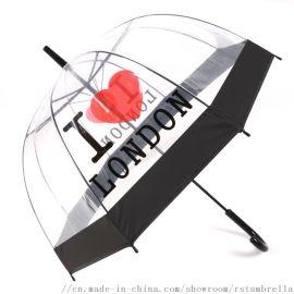 RST外贸出口欧洲透明环保加厚阿波罗鸟笼雨伞女