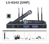 拉符**真分集UHF調頻無線麥克風話筒LV-8242