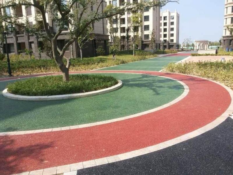 彩色透水地坪包工包料上海桓石彩色 透水地坪透水混凝土吸附地表水 促進水迴圈