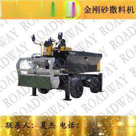 金鋼砂撒料機,路得威RWSL11渦輪增壓柴油發動機高精度加工布料輥撒料均勻金剛砂,金剛砂撒料機,撒料機,金鋼砂,